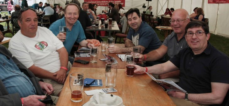 Festival goers enjoying the 2015 Bracknell Beer Festival.