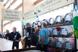 Racked beers at Ascot Beer Festival