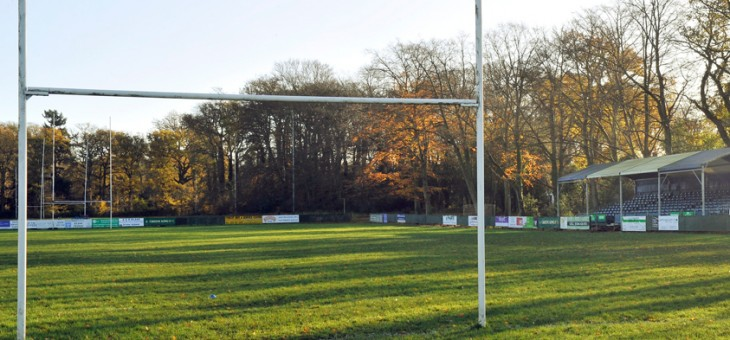 The pitch at Bracknell Rugby Club - Lily Hill Park.