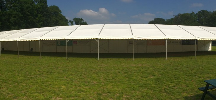 The marquee at Bracknell Rugby Club.