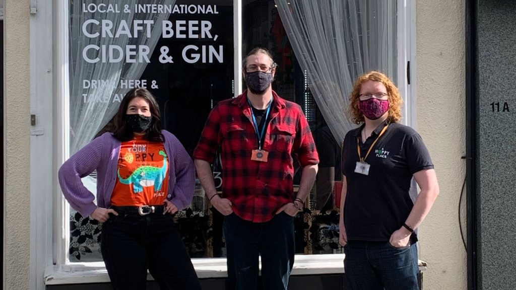 The team at A Hoppy Place in Windsor, left to right: Naomi, Jason and Dave.